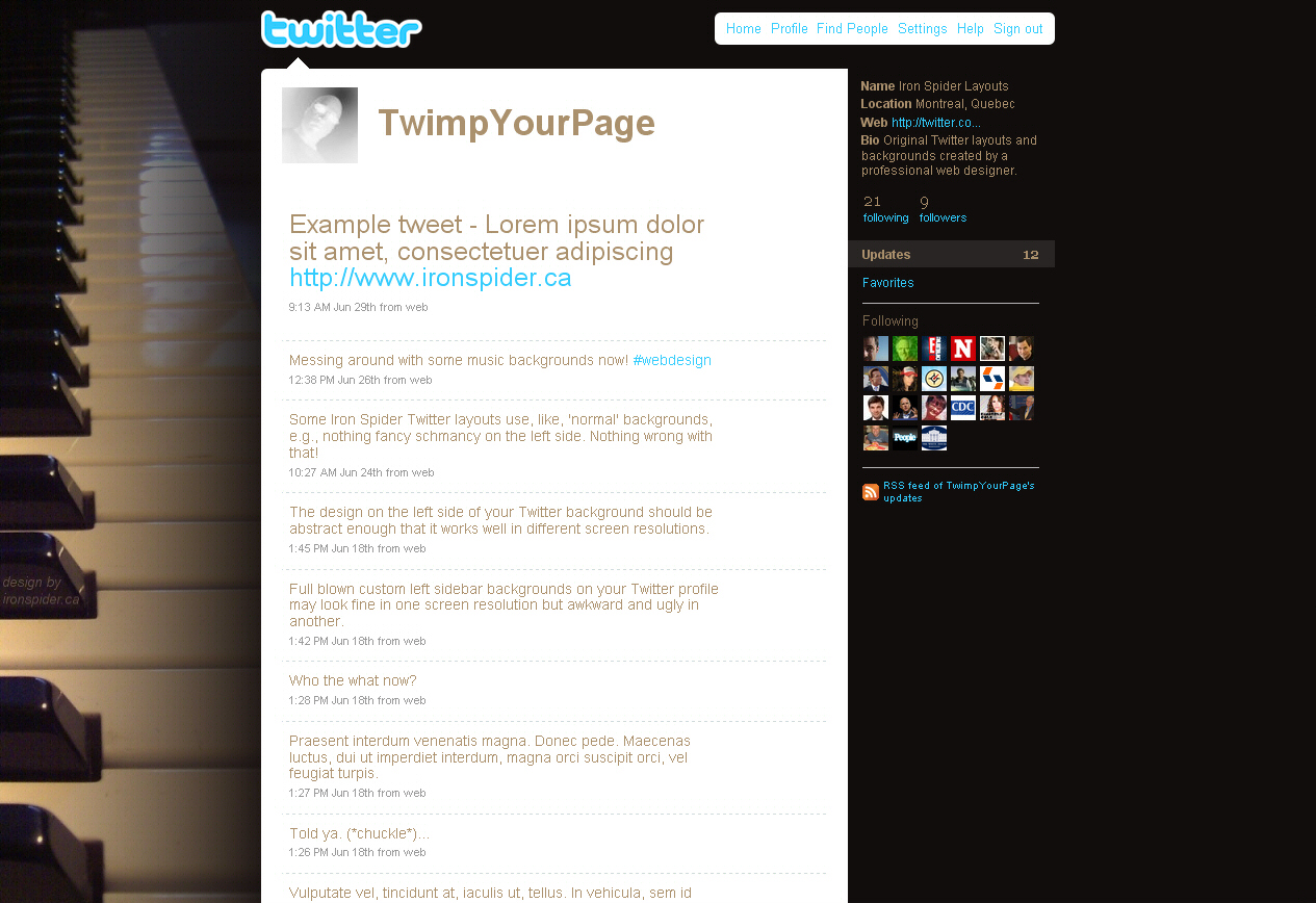 Twitter Background Images Music 1280 x 1024 Screen Size